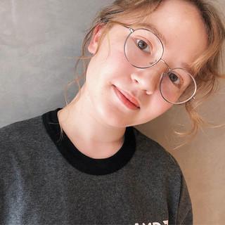 大人かわいい ナチュラル 簡単ヘアアレンジ ミディアム ヘアスタイルや髪型の写真・画像
