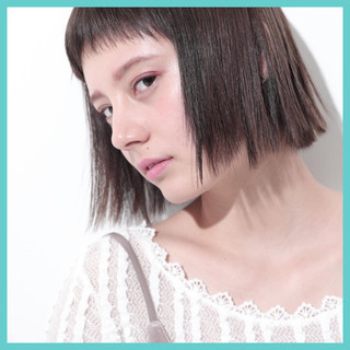 前髪あり ワンレングス ガーリー 暗髪 ヘアスタイルや髪型の写真・画像 ヘアスタイルや髪型の写真・画像