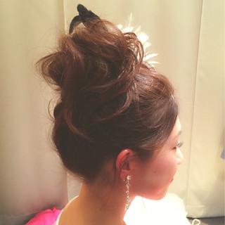 花嫁 ヘアアレンジ 二次会 セミロング ヘアスタイルや髪型の写真・画像