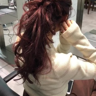 ロング エレガント ピンク ヘアアレンジ ヘアスタイルや髪型の写真・画像
