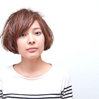 小顔 ショート ナチュラル ニュアンス ヘアスタイルや髪型の写真・画像