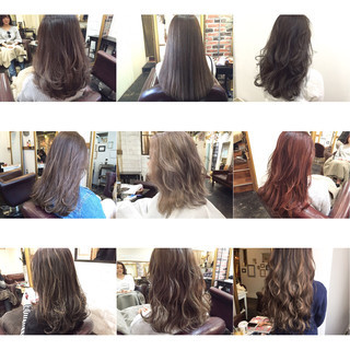 ロング ストリート 夏 ダブルカラー ヘアスタイルや髪型の写真・画像