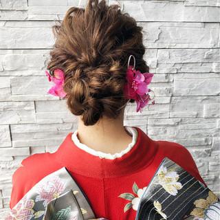 結婚式 ロング フェミニン 成人式 ヘアスタイルや髪型の写真・画像 ヘアスタイルや髪型の写真・画像