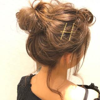簡単ヘアアレンジ デート エフォートレス ヘアアレンジ ヘアスタイルや髪型の写真・画像
