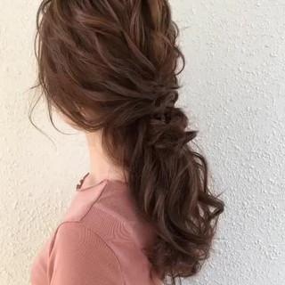 ゆるナチュラル セミロング アンニュイほつれヘア ヘアアレンジ ヘアスタイルや髪型の写真・画像