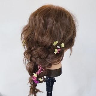 ヘアアレンジ セミロング ショート 簡単ヘアアレンジ ヘアスタイルや髪型の写真・画像 ヘアスタイルや髪型の写真・画像