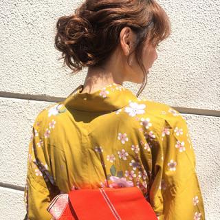お祭り 夏 デート 大人かわいい ヘアスタイルや髪型の写真・画像