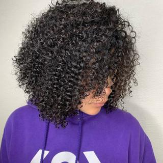 パーマ ストリート 派手髪 スパイラルパーマ ヘアスタイルや髪型の写真・画像