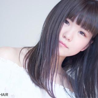 グラデーションカラー 暗髪 ナチュラル ロング ヘアスタイルや髪型の写真・画像