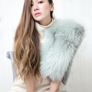 コンサバ ゆるふわ グラデーションカラー 外国人風 ヘアスタイルや髪型の写真・画像