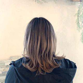 ストリート 外国人風カラー ミディアム エアータッチ ヘアスタイルや髪型の写真・画像