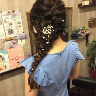 結婚式 デート ナチュラル 簡単ヘアアレンジ ヘアスタイルや髪型の写真・画像