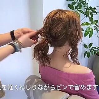 デート アウトドア セミロング 女子会 ヘアスタイルや髪型の写真・画像