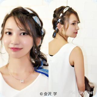 大人かわいい 簡単ヘアアレンジ ヘアアクセ 外国人風 ヘアスタイルや髪型の写真・画像