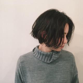 色気 黒髪 冬 パーマ ヘアスタイルや髪型の写真・画像
