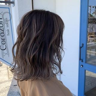 ヘアカラー ダブルカラー 透明感カラー エレガント ヘアスタイルや髪型の写真・画像