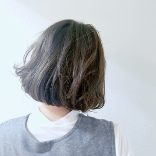 アッシュ 外国人風カラー ボブ 色気 ヘアスタイルや髪型の写真・画像 ヘアスタイルや髪型の写真・画像