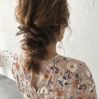 ナチュラル 大人かわいい 結婚式 デート ヘアスタイルや髪型の写真・画像