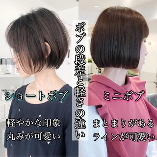 ショート ショートヘア 縮毛矯正 ナチュラル ヘアスタイルや髪型の写真・画像