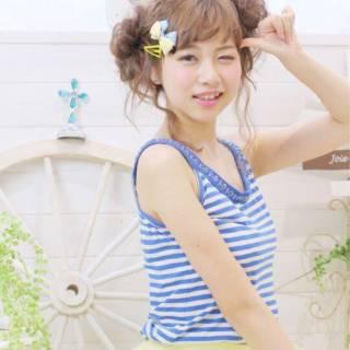 モテ髪 フェミニン ガーリー 春 ヘアスタイルや髪型の写真・画像