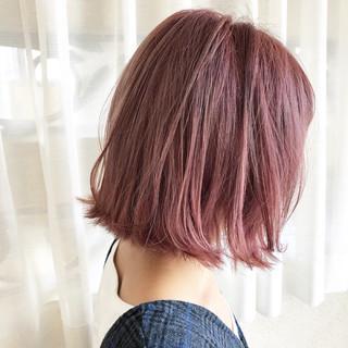 艶髪 ボブ 切りっぱなし 外国人風カラー ヘアスタイルや髪型の写真・画像