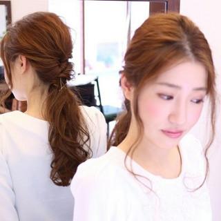 ヘアアレンジ 簡単ヘアアレンジ 波ウェーブ ショート ヘアスタイルや髪型の写真・画像