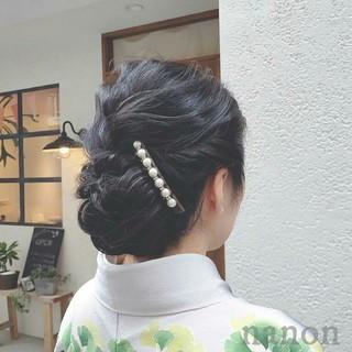 上品 エレガント ヘアアレンジ デート ヘアスタイルや髪型の写真・画像