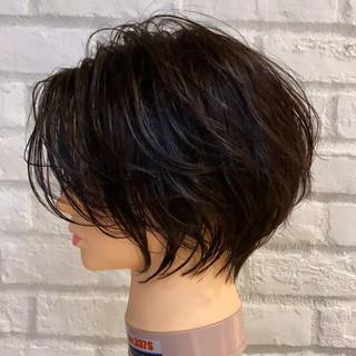ショート ショートボブ ナチュラル ショートヘア ヘアスタイルや髪型の写真・画像