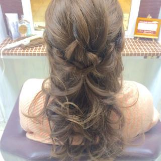 三つ編み ヘアアレンジ ロング パーティ ヘアスタイルや髪型の写真・画像