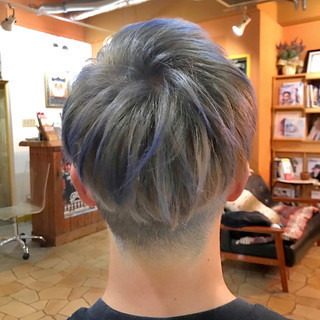 メンズヘア ストリート ハイトーンカラー ショート ヘアスタイルや髪型の写真・画像