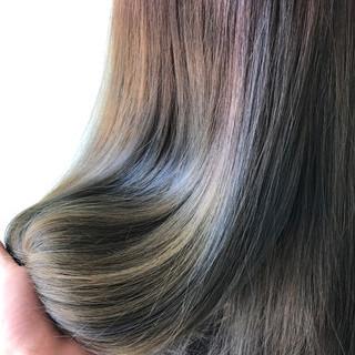 ストリート グラデーションカラー ハイトーン ロング ヘアスタイルや髪型の写真・画像