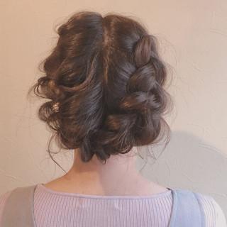 結婚式 大人かわいい 謝恩会 ロング ヘアスタイルや髪型の写真・画像