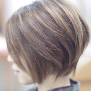 ショート 大人女子 デート ボブ ヘアスタイルや髪型の写真・画像