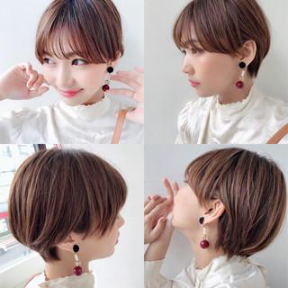 マッシュショート ショート ショートヘア ハンサムショート ヘアスタイルや髪型の写真・画像
