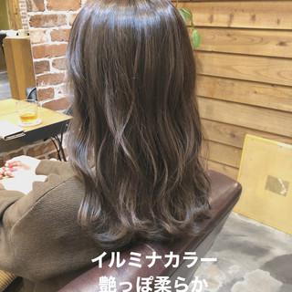 ブランジュ カーキ ナチュラル ブラウン ヘアスタイルや髪型の写真・画像