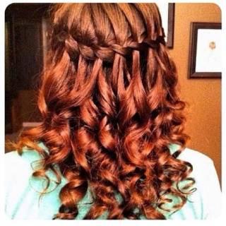 モテ髪 ピンク ブラウンベージュ レッド ヘアスタイルや髪型の写真・画像