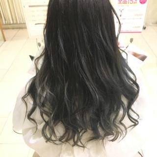 オフィス 黒髪 モード セミロング ヘアスタイルや髪型の写真・画像 ヘアスタイルや髪型の写真・画像