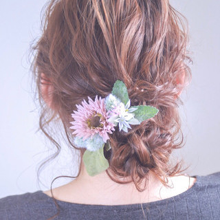 外国人風カラー ヘアアレンジ ロング ナチュラル ヘアスタイルや髪型の写真・画像