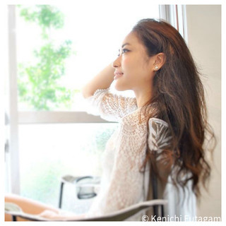 外国人風 アンニュイ ロング エレガント ヘアスタイルや髪型の写真・画像