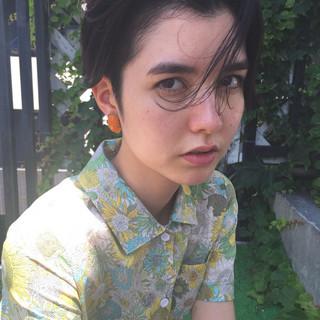 黒髪 大人かわいい モード ショート ヘアスタイルや髪型の写真・画像
