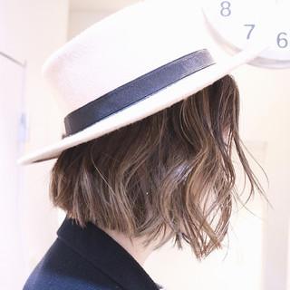 ハイライト ナチュラル グラデーションカラー 色気 ヘアスタイルや髪型の写真・画像