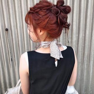 ミディアム 浴衣アレンジ カジュアル 簡単ヘアアレンジ ヘアスタイルや髪型の写真・画像