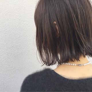 外国人風 ロブ 切りっぱなし 外ハネ ヘアスタイルや髪型の写真・画像 ヘアスタイルや髪型の写真・画像