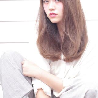 アッシュ 外国人風 前髪あり ミディアム ヘアスタイルや髪型の写真・画像
