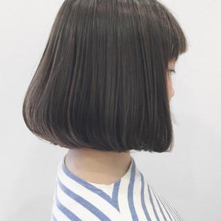 透明感 アッシュ ワンレングス ナチュラル ヘアスタイルや髪型の写真・画像