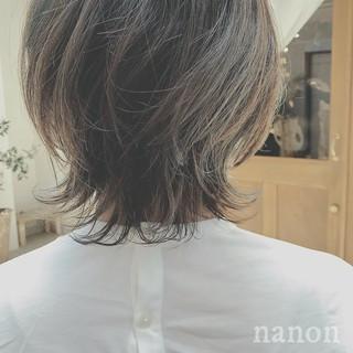 フェミニン 大人かわいい デート ボブ ヘアスタイルや髪型の写真・画像