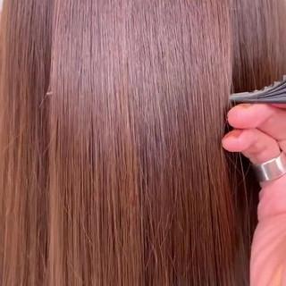 ミルクティーベージュ 外国人風 ナチュラル アッシュブラウン ヘアスタイルや髪型の写真・画像