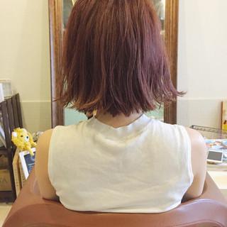ガーリー 斜め前髪 ボブ デート ヘアスタイルや髪型の写真・画像