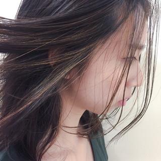 大人かわいい ハイライト ストリート セミロング ヘアスタイルや髪型の写真・画像