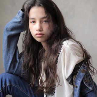 ヘアアレンジ 女子力 ナチュラル ロング ヘアスタイルや髪型の写真・画像